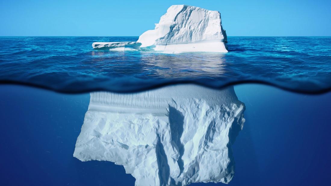 Spitze Des Eisbergs Englisch
